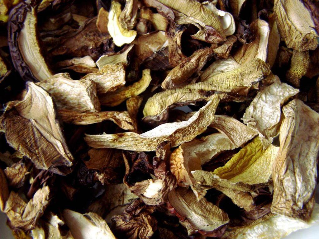 przechowywanie suszonych grzybów